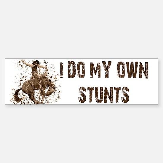 Bronco Rodeo Cowboy, Stunts Bumper Bumper Bumper Sticker