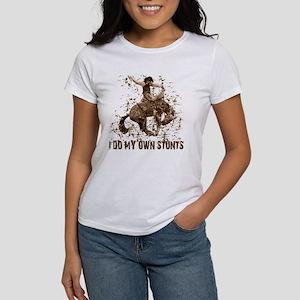 Bronco Rodeo Cowboy, Stunts Women's T-Shirt