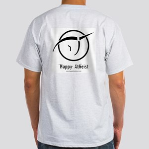 IPU Happy Atheist :: Ash Grey T-Shirt