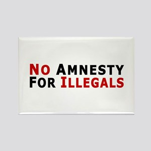 No Amnesty D24 Rectangle Magnet