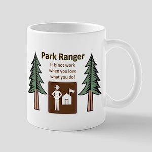 Park Ranger Tree Stainless Steel Travel Mugs
