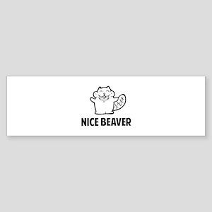 Nice Beaver Sticker (Bumper)