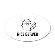Nice Beaver 22x14 Oval Wall Peel