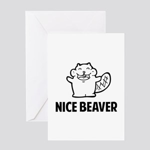 Nice Beaver Greeting Card