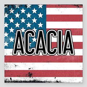 """Acacia Flag Square Car Magnet 3"""" x 3"""""""