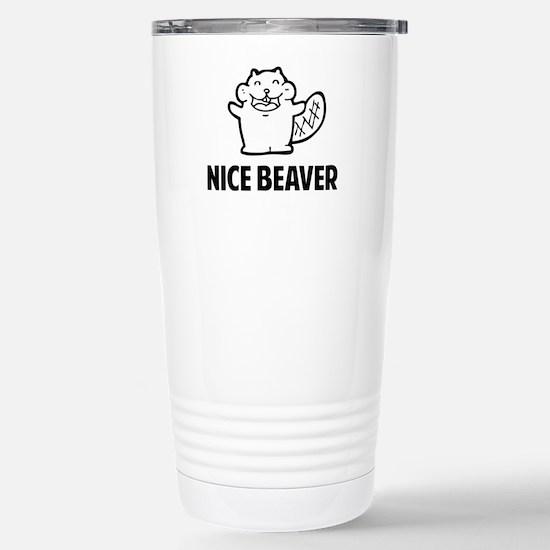 Nice Beaver Stainless Steel Travel Mug