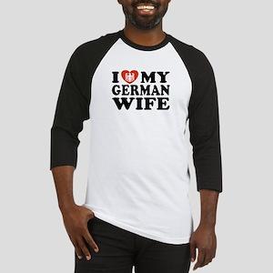 I Love My German Wife Baseball Jersey