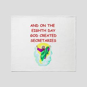 secretaries Throw Blanket