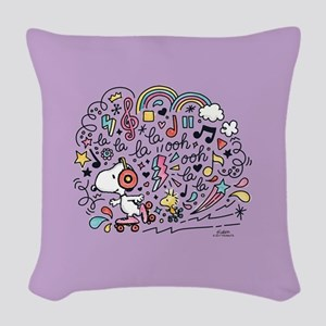 Peanuts Back to School Woven Throw Pillow