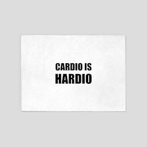 Cardio Is Hardio 5'x7'Area Rug