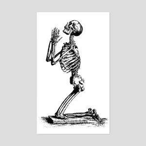 Praying Skeleton Rectangle Sticker