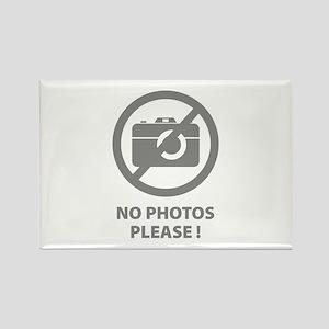 No Photos Please ! Rectangle Magnet