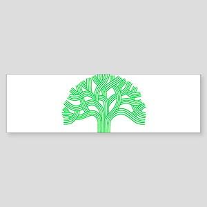 Oakland Tree Lim Green Sticker (Bumper)