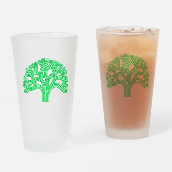 Oakland Tree Lim Green Drinking Glass
