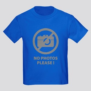 No Photos Please ! Kids Dark T-Shirt