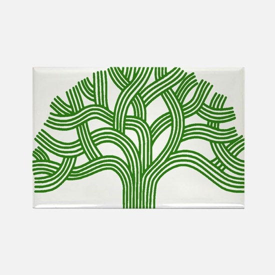 Oakland Tree Green Rectangle Magnet