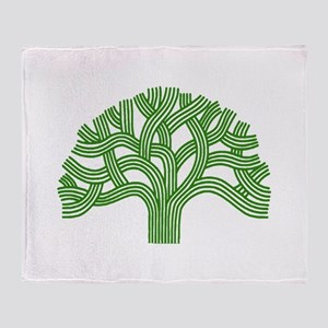 Oakland Tree Green Throw Blanket
