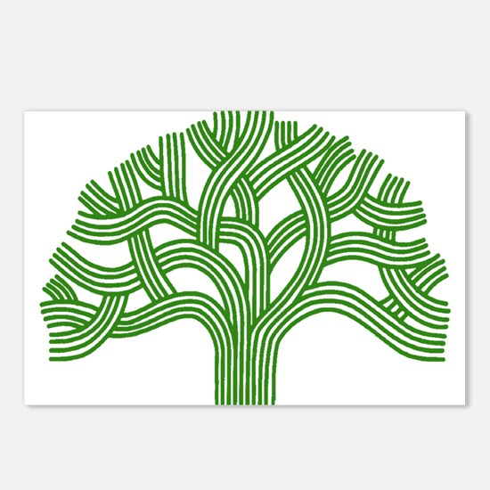 Oakland Tree Green Postcards (Package of 8)