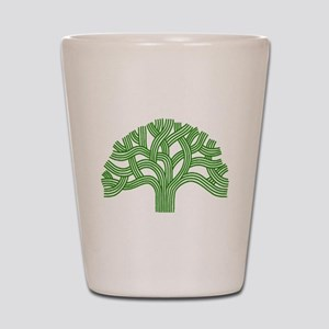 Oakland Tree Green Shot Glass