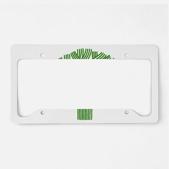 Oakland Tree Green License Plate Holder
