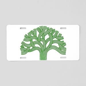Oakland Tree Green Aluminum License Plate
