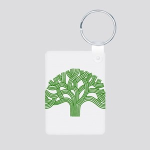 Oakland Tree Green Aluminum Photo Keychain