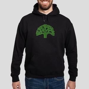 Oakland Tree Green Hoodie (dark)