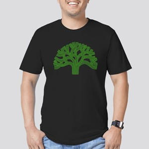 Oakland Tree Green Men's Fitted T-Shirt (dark)