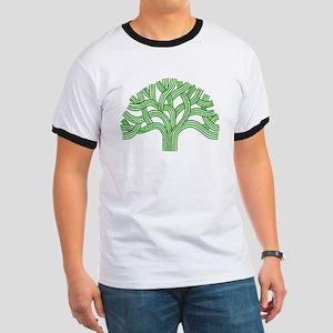 Oakland Tree Green Ringer T
