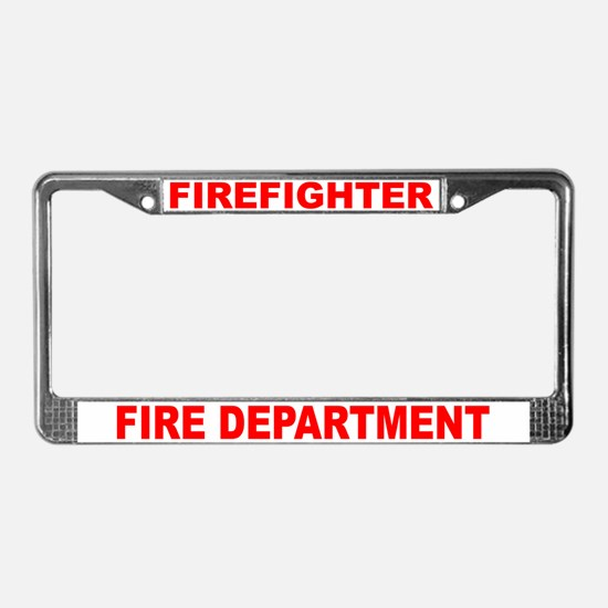 Fire Fighter License Plate Frame