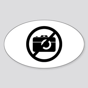 No Photos Please ! Sticker (Oval)