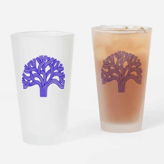 Oakland Tree Blue Drinking Glass