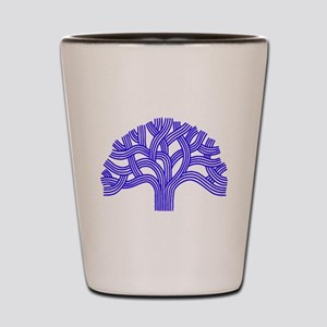 Oakland Tree Blue Shot Glass