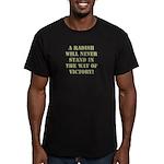 A Radish Men's Fitted T-Shirt (dark)