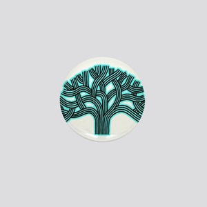 Oakland Tree Hazed Teal Mini Button