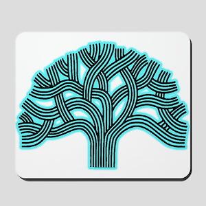 Oakland Tree Hazed Teal Mousepad