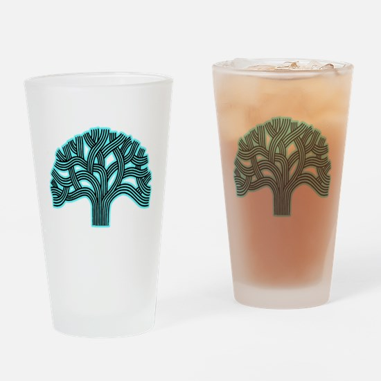 Oakland Tree Hazed Teal Drinking Glass