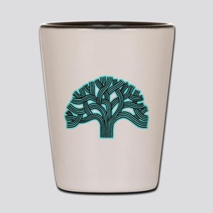 Oakland Tree Hazed Teal Shot Glass