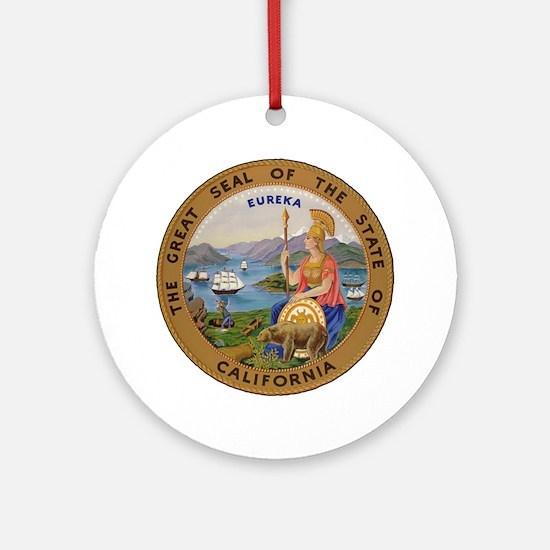 Seal of California Ornament (Round)