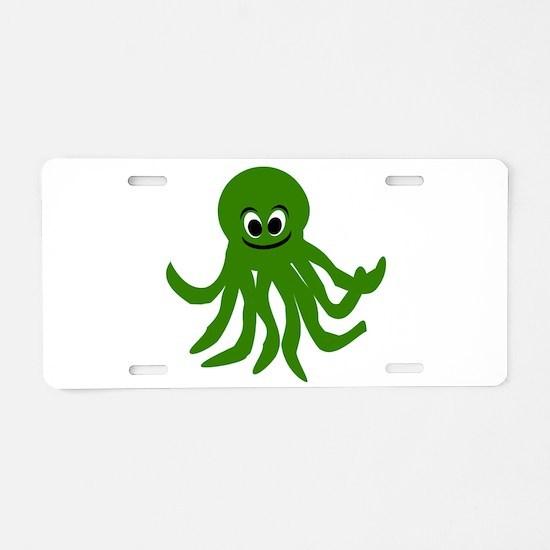 Octopus Design Aluminum License Plate