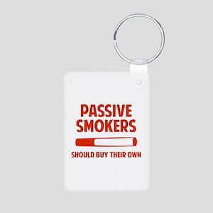 Passive Smokers Aluminum Photo Keychain
