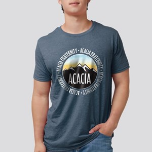Acacia Sunset Mens Tri-blend T-Shirts
