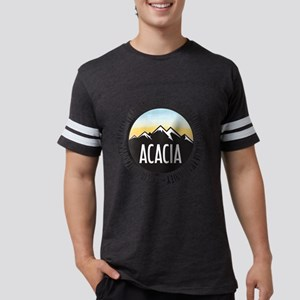 Acacia Sunset Mens Football T-Shirts