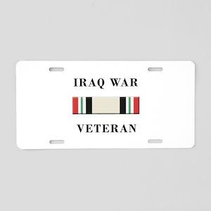 Iraq War Veterans Aluminum License Plate