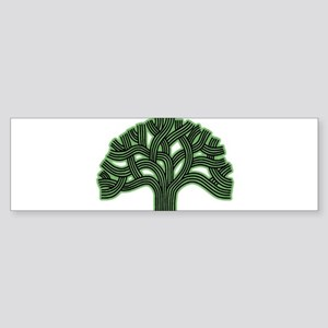Oakland Tree Hazed Green Sticker (Bumper)