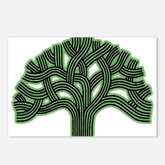 Oakland Tree Hazed Green Postcards (Package of 8)