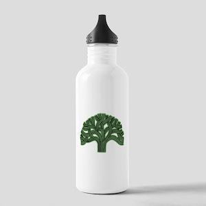 Oakland Tree Hazed Green Stainless Water Bottle 1.