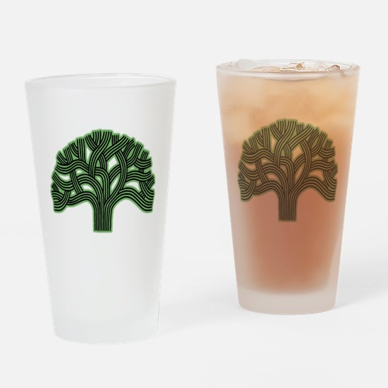 Oakland Tree Hazed Green Drinking Glass