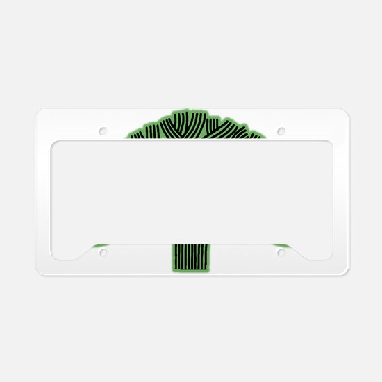 Oakland Tree Hazed Green License Plate Holder