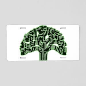 Oakland Tree Hazed Green Aluminum License Plate
